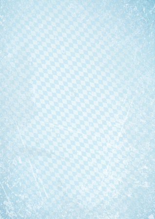 Vertical Oktoberfest Retro Paper Background. Diagonal Diamond Pattern Blue