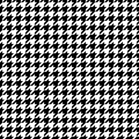 Seamless Graphic Houndstooth Pattern Black And White 矢量图像
