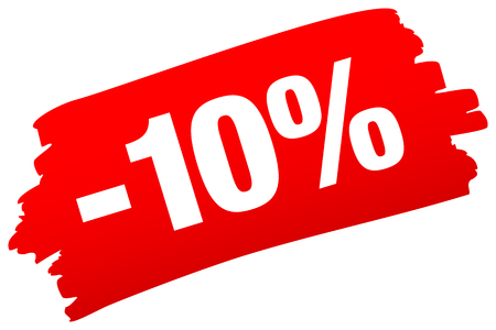 Single Isolated Red Brushstroke Sale Minus Ten Percent Ilustração