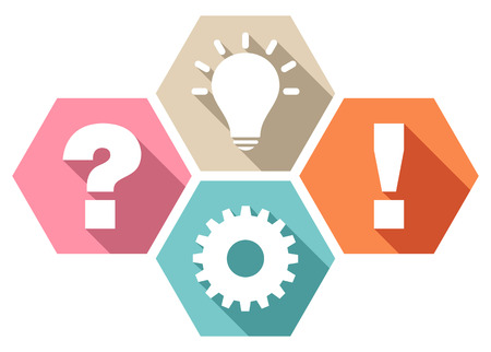 Set Of Four Honeycombs Question Work Idea And Answer Retro Colors