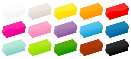 Set Of Fifteen Colorful Price Tags Stickers Diagonal Ilustrace