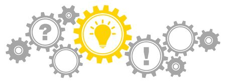 Gears Border Graphics Idea Question Answer Gray And Yellow