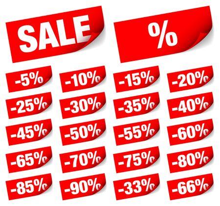 Set Of Twenty-Two Red Sticky Notes Sale Minus