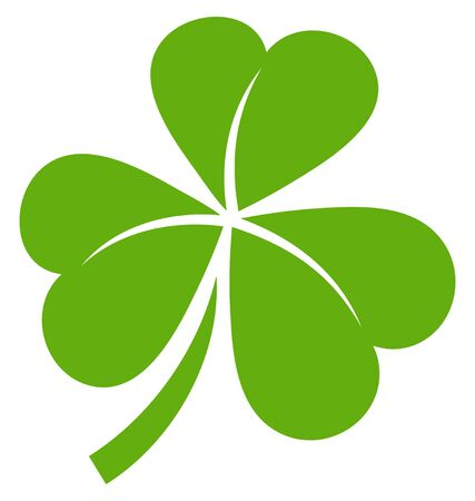 Single Isolated Graphic Shamrock Three Leaves Green Ilustrace
