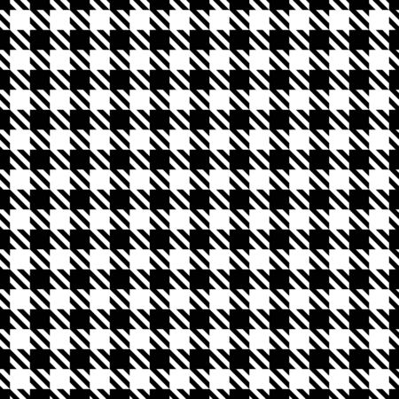 Big Seamless Graphic Houndstooth Pattern Black And White Ilustrace