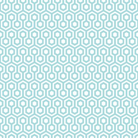 Seamless Pattern Abstract Honeycombs Blue And White Ilustração