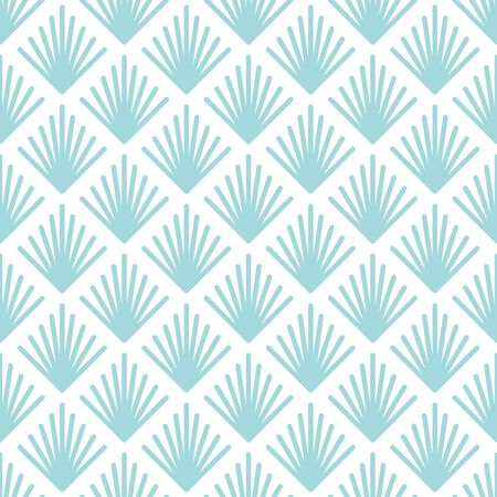 Seamless Pattern Abstract Graphic Fans Blue And White