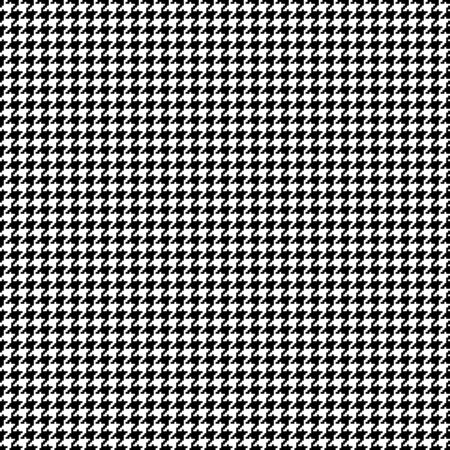 Seamless Little Graphic Pixel Hound Pattern Black And White