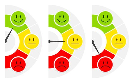Three Faces Color Barometer Public Opinion Vertical Right Side