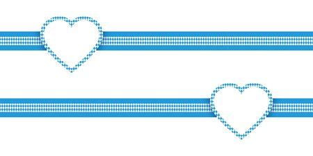 Two Horizontal Ribbons Hearts Oktoberfest Diamond Pattern 版權商用圖片 - 126432369
