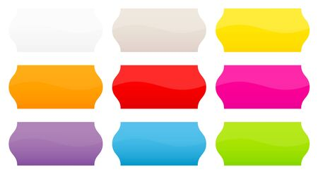 Set Of Nine Colorful Straight Price Tags