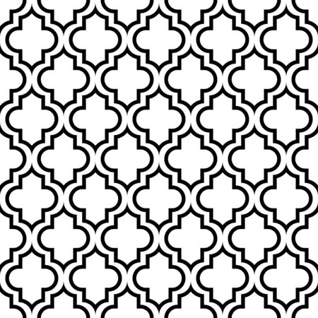 Seamless Graphic Pattern Oriental Black And White