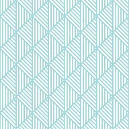 Seamless Pattern Abstract Triangles Lines Blue And White