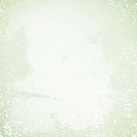 Square Retro Paper Background Scratches And Stains Green  イラスト・ベクター素材