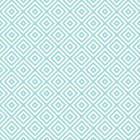 Seamless Pattern Diagonal Squares Blue And White