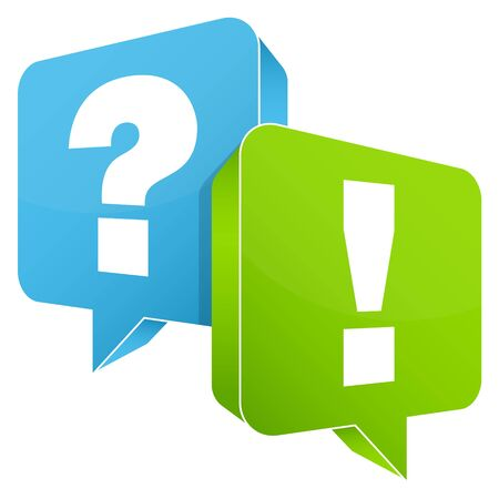 Speech Bubble Question And Answer Blue Green