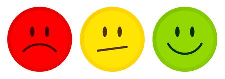 Three Buttons Faces Mood Color Diagonal Mouth