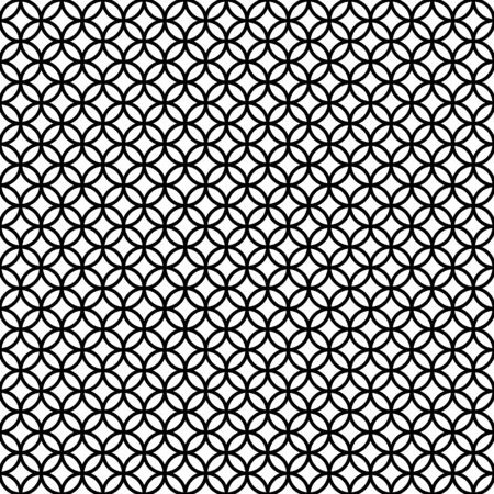 Modèle sans couture de cercles graphiques abstraits noir et blanc