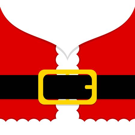 Abstract Santa Claus Costume And Belt Red And White