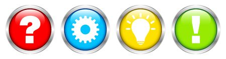Set Of Four Silver Buttons Question Work Idea And Answer Color
