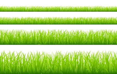 Set Of Four Green Meadows Banner Straight