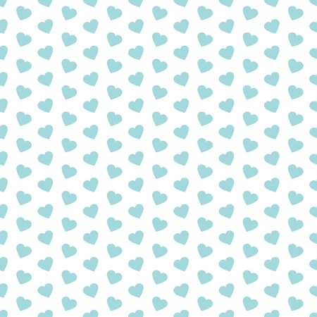 Seamless Pattern Little Diagonal Hearts Blue And White