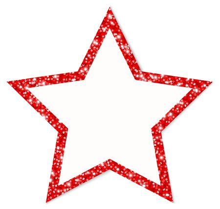 Single Red Star Frame Sparkling And Shining
