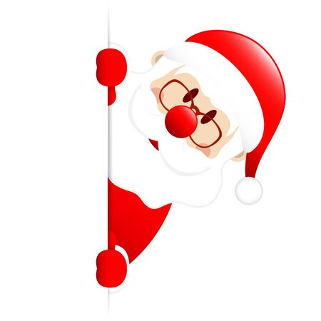 Santa On The Right Side Of Vertical Banner