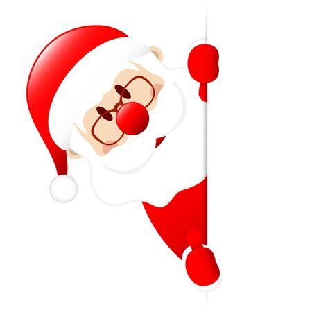 Santa Claus Thumb Up Left Side Vertical Banner Ilustracja