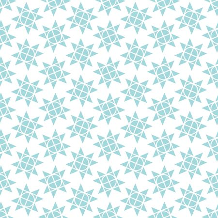 Seamless Pattern Little Graphic Christmas Stars Blue White  イラスト・ベクター素材