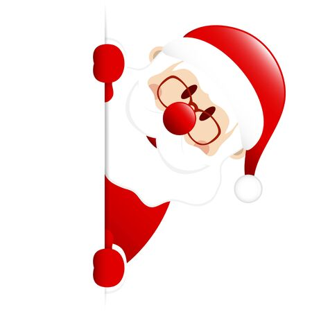 Dark Red Santa Claus On The Right Side Of Vertical Banner