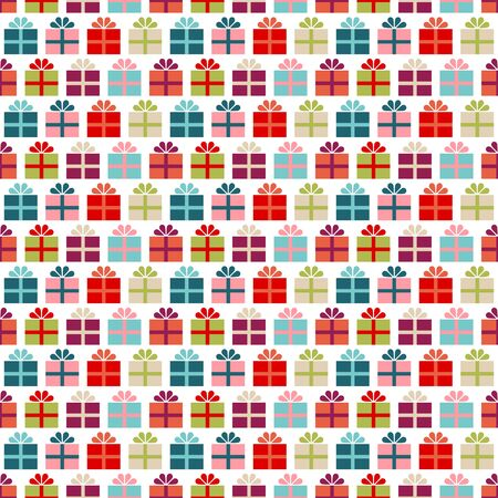 Seamless Pattern Small Colorful Graphic Gifts With Ribbon