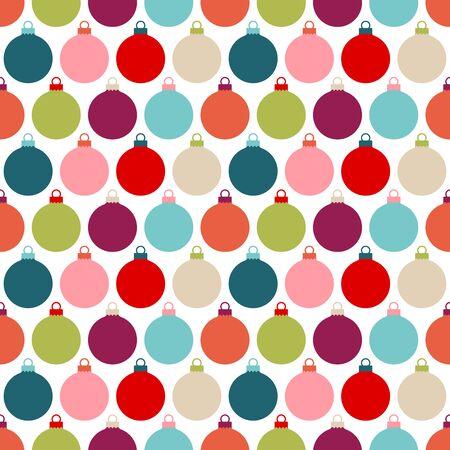 Seamless Pattern Big Graphic Colorful Christmas Baubles Illusztráció