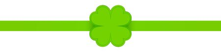 Horizontal Ribbon Light Green With Shining Shamrock Vettoriali