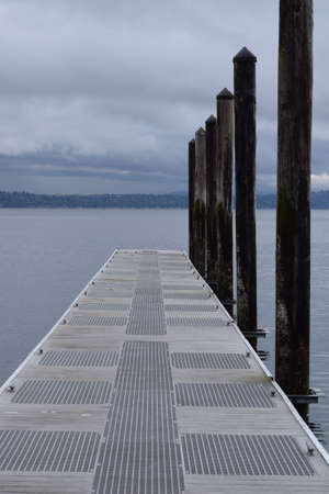 northwest: Pier in the Pacific Northwest Stock Photo