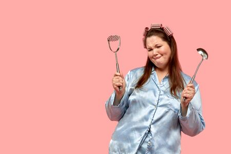 Not a happy fat girl with kitchen utensils in her hands. Not the desire to cook