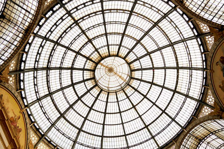 Stunning rooftop in the middle of the famous Galleria Vittorio Emanuele shopping center in Milan Italy. 22.08.2020
