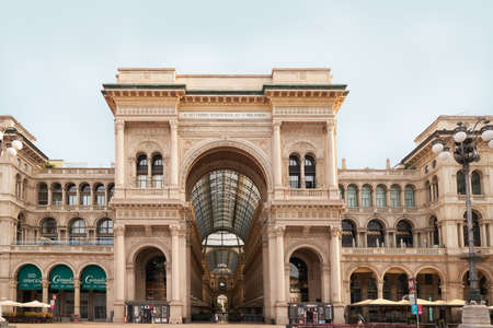 The Galleria Vittorio Emanuele II in Milan, Italy. 22.08.2020 Built within a four storey double arcade, the Galleria Vittorio Emanuele II is found in central Milan. It is named after the first king of the Kingdom of Italy and is one of the largest shopping centres. 写真素材