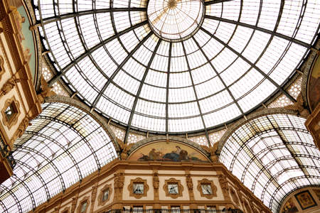 Galleria Vittorio Emanuele II. This gallery is one of the worlds oldest shopping malls and Milan landmark. Historical architecture of Milan. Milan Italy. 22.08.2020
