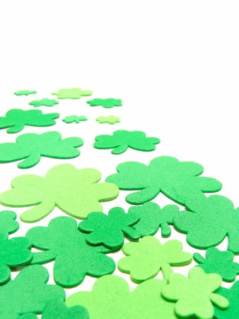 St Patricks Day shamrock background  Stock Photo - 8786589