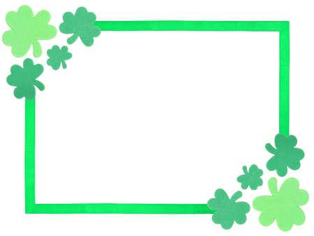 St Patricks Day shamrock frame  Stock Photo - 8786598