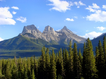 canmore: Three Sisters peaks near Canmore, Alberta