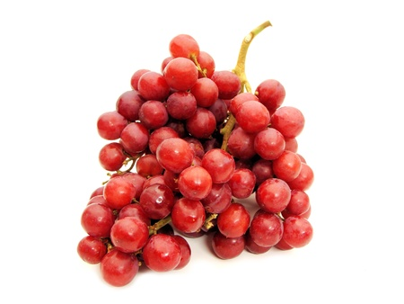 A bunch of red grapes against a white background Stock Photo - 8954001