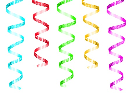red glittery: Colorful hanging party streamers