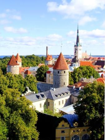 tallinn: Panoramic view of Tallinn, Estonia