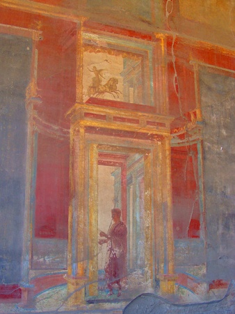 pompeii: Ancient painting at Pompeii  Stock Photo