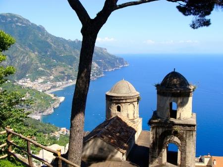 Amalfi Coast view from Villa Rufolo in Ravello, Italy Stock Photo - 9784094