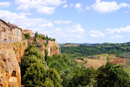 Views over Umbrian countryside from the hill top town of Orvieto, Italy Stock Photo - 10407928