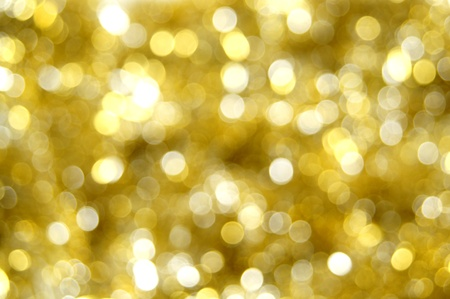 Abstract gold Christmas light background Stock Photo