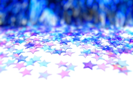 Blue Christmas star background with selective focus Banco de Imagens